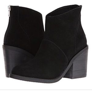 Steve Madden Shrines Ankle Booties Black Suede 7.5